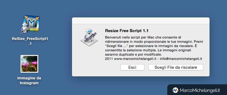 utility per mac per riscalare le foto o le immagini