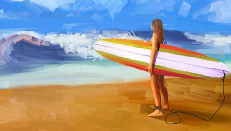 Illustrazione surf